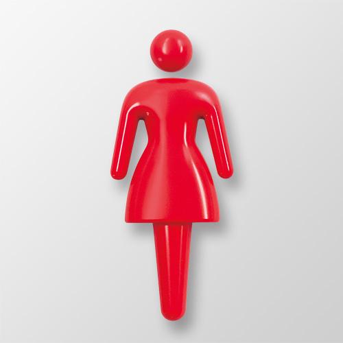 3D120-B 3Dピクト 正面型 女 幅51×高120×厚12mm