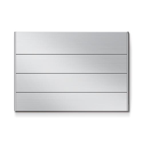 FR300-4段セパレート案内板アルミ型無地幅314×高216×厚15mm