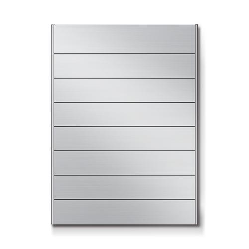 FR300-8段セパレート案内板アルミ型無地幅314×高424×厚15mm