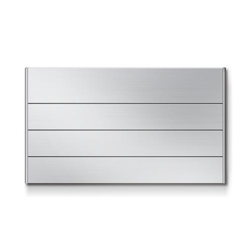 FR450-4段 セパレート案内板 アルミ型 無地 幅464×高266×厚15mm
