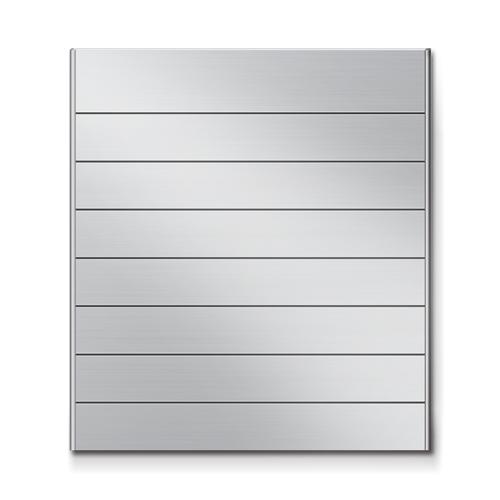 FR450-8段セパレート案内板アルミ型無地幅464×高514×厚15mm