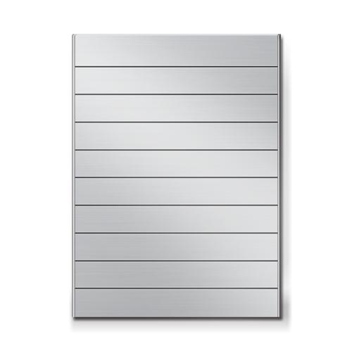 FR600-10段セパレート案内板アルミ型無地幅614×高828×厚15mm