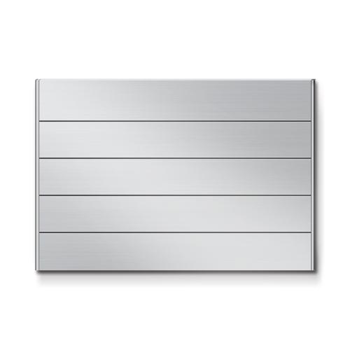 FR600-5段セパレート案内板アルミ型無地幅614×高418×厚15mm