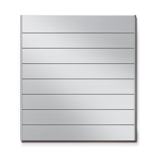 FR600-8段セパレート案内板アルミ型無地幅614×高664×厚15mm