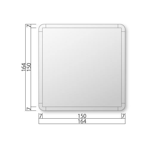 FRA160-Mフリーサイズプレート正面型M価格幅164×高164×厚15mm