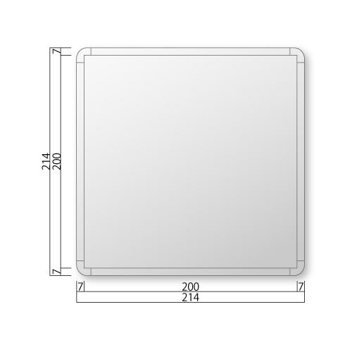 FRA210-Mフリーサイズプレート正面型M価格幅214×高214×厚15mm