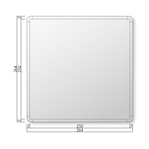 FRA260-Mフリーサイズプレート正面型M価格幅264×高264×厚15mm