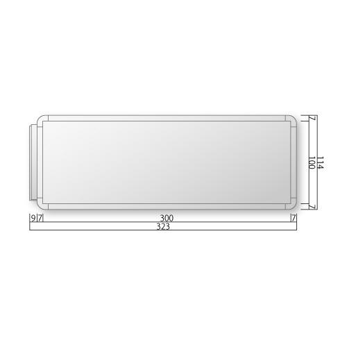 FRAY110-Mフリーサイズプレート側面型M価格幅323×高114×厚20mm