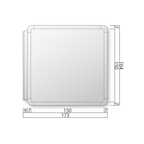FRAY160-Mフリーサイズプレート側面型M価格幅173×高164×厚20mm