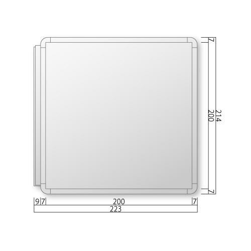 FRAY210-Mフリーサイズプレート側面型M価格幅223×高214×厚20mm