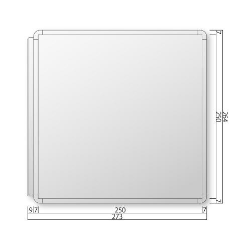 FRAY260-Mフリーサイズプレート側面型M価格幅273×高164×厚20mm