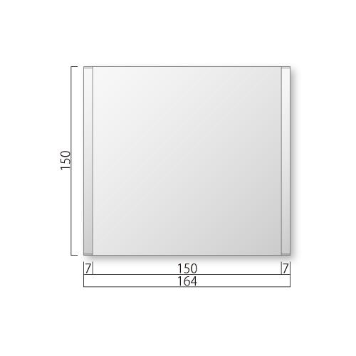 FTR150-Mフリーサイズプレートサイド枠正面型M価格幅164×高150×厚15mm