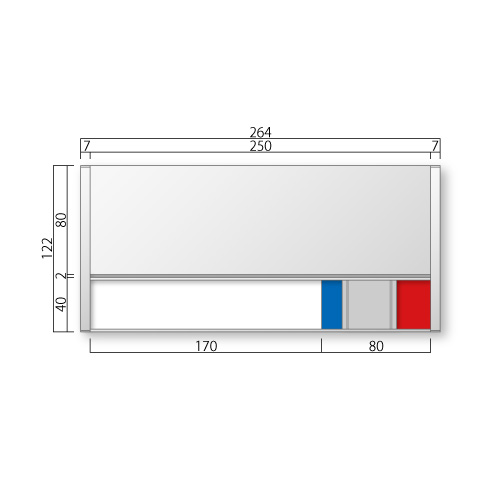 FTR20-Mフリーサイズプレートサイド枠正面型:在空+氏名表示付M価格幅264×高122×厚15mm