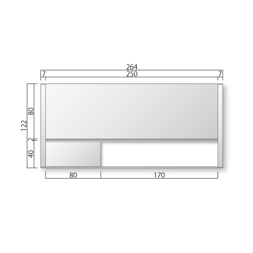 FTR30-M フリーサイズプレート サイド枠正面型:在空+氏名表示付 M価格 幅264×高122×厚15mm