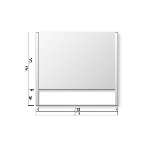 FTR50-1-Mフリーサイズプレートサイド枠正面型:氏名表示付M価格幅214×高192×厚15mm