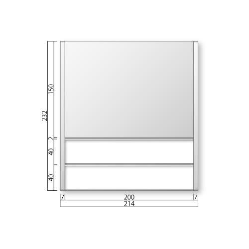 FTR50-2-Mフリーサイズプレートサイド枠正面型:氏名表示付M価格幅214×高232×厚15mm
