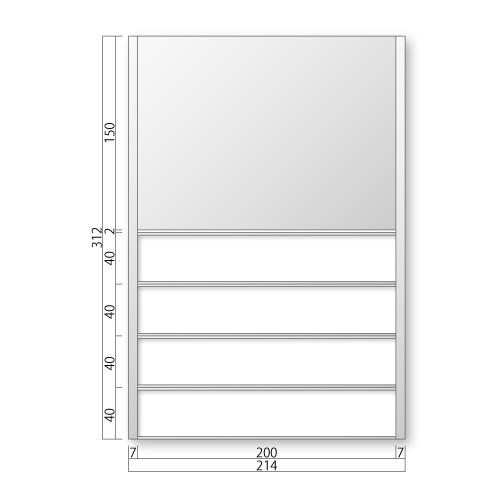 FTR50-4-M フリーサイズプレート サイド枠正面型:氏名表示付 M価格 幅214×高312×厚15mm