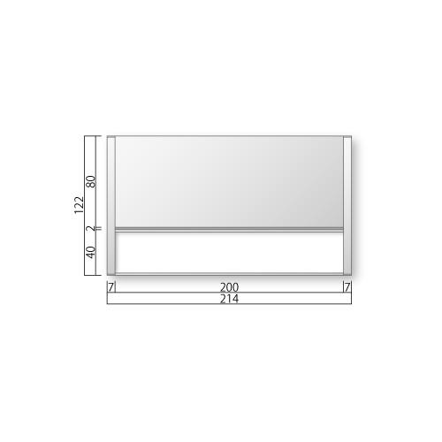 FTR55-Mフリーサイズプレートサイド枠正面型:氏名表示付M価格幅214×高122×厚15mm