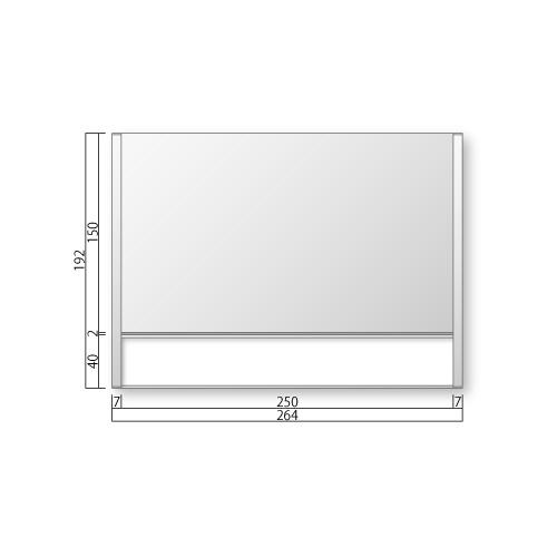 FTR80-1-Mフリーサイズプレートサイド枠正面型:氏名表示付M価格幅264×高192×厚15mm