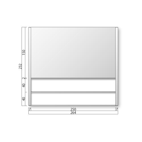 FTR80-2-Mフリーサイズプレートサイド枠正面型:氏名表示付M価格幅264×高232×厚15mm