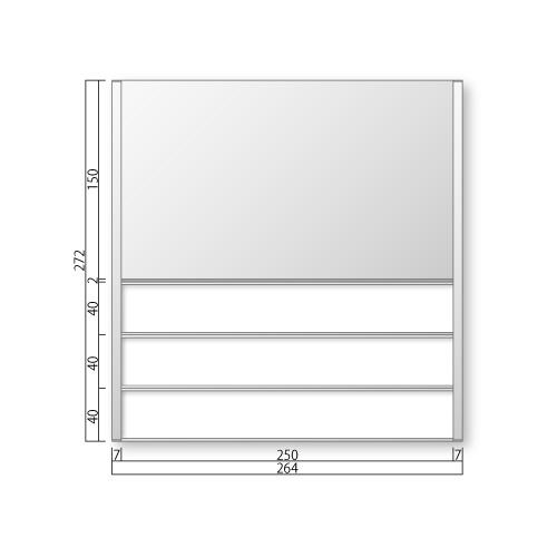 FTR80-3-Mフリーサイズプレートサイド枠正面型:氏名表示付M価格幅264×高272×厚15mm