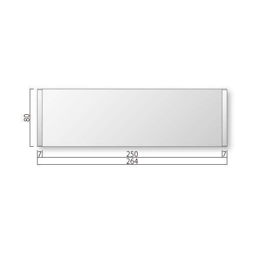 FTR81-Mフリーサイズプレートサイド枠正面型M価格幅264×高80×厚15mm