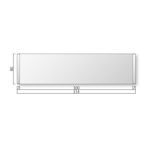 FTR83-Mフリーサイズプレートサイド枠正面型M価格幅314×高80×厚15mm