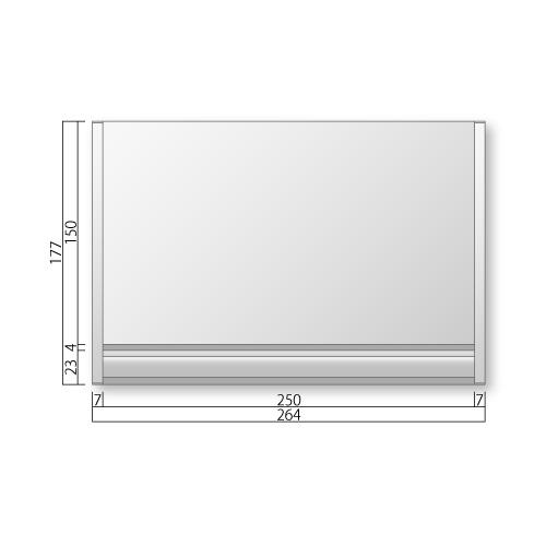 FTRP50-Mフリーサイズプレートサイド枠正面型:ペーパーハンガー付M価格幅264×高177×厚15mm