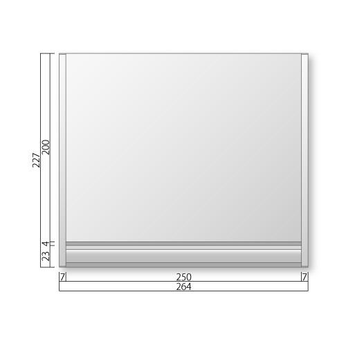 FTRP60-Mフリーサイズプレートサイド枠正面型:ペーパーハンガー付M価格幅264×高227×厚15mm