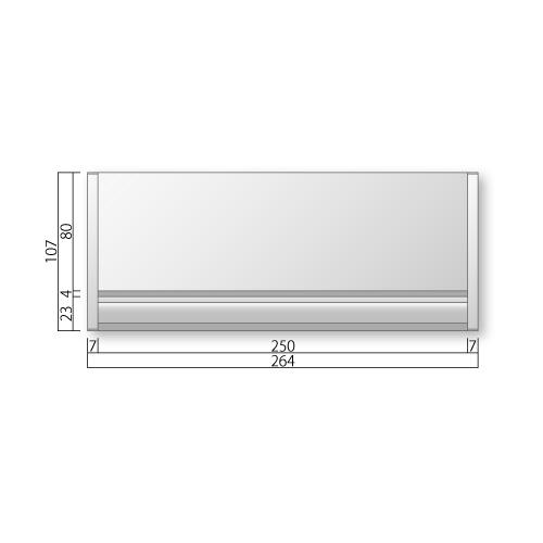 FTRP65-Mフリーサイズプレートサイド枠正面型:ペーパーハンガー付M価格幅264×高107×厚15mm