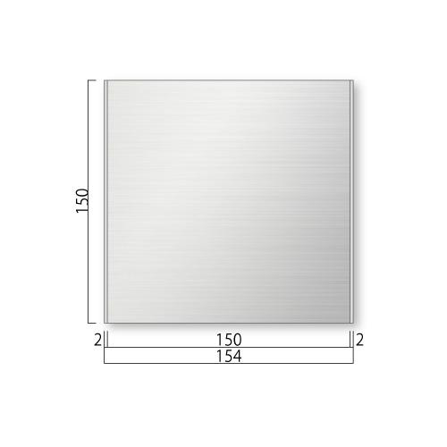 FTS150-M ステンレスプレート 正面型 M価格 幅154×高150×厚8mm
