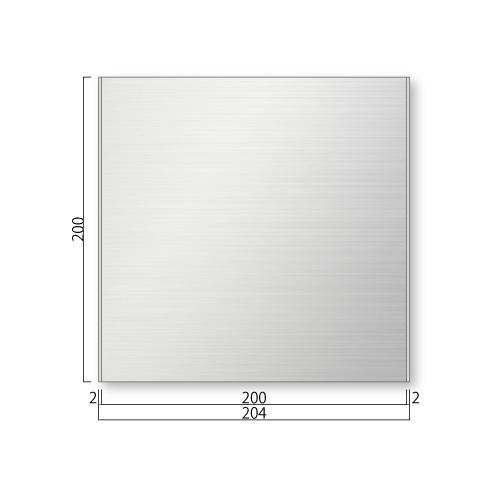 FTS200-Mステンレスプレート正面型M価格幅204×高200×厚8mm