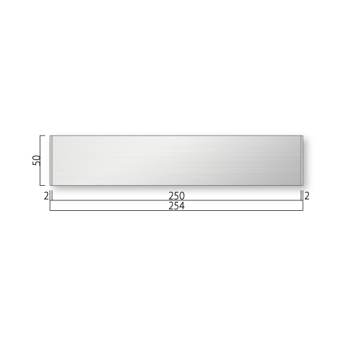 FTS51-M ステンレスプレート 正面型 M価格 幅254×高50×厚8mm
