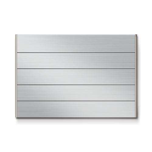 FTS600-5段セパレート案内板ステンレス型無地幅614×高418×厚15mm