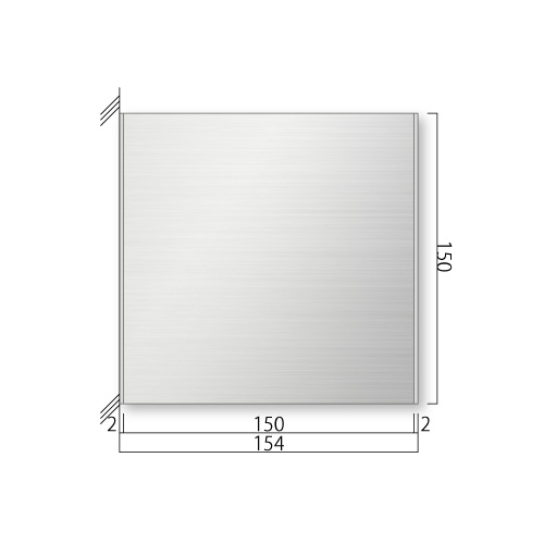 FTSY150-Mステンレスプレート側面型M価格幅154×高150×厚15.5mm