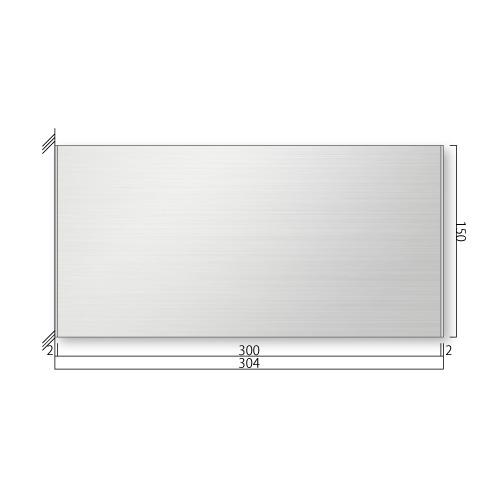 FTSY1530-Mステンレスプレート側面型M価格幅304×高150×厚15.5mm