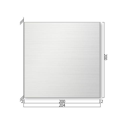 FTSY200-Mステンレスプレート側面型M価格幅204×高200×厚15.5mm