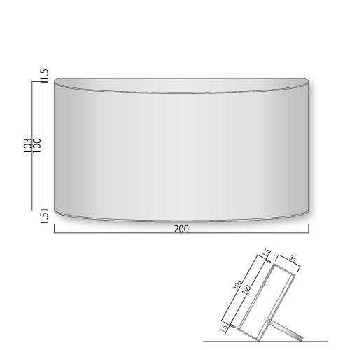 FV-100L-MフォーバルカウンターサインM価格幅200×高103mm