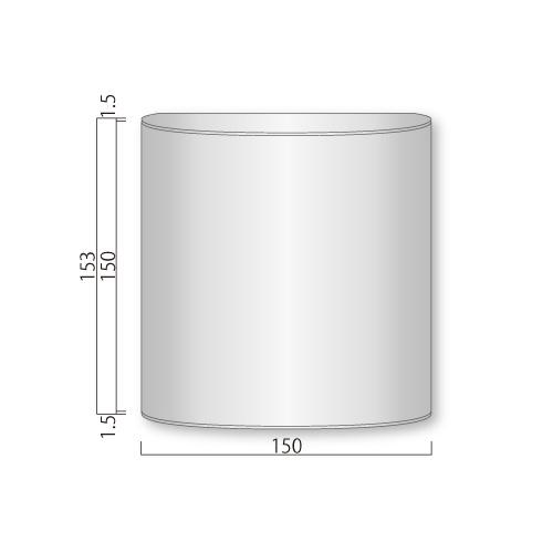 FV150-Mフォーバルプレート正面型M価格幅150×高153×厚34mm