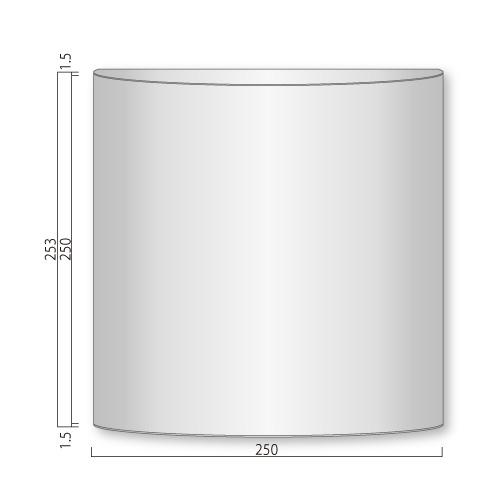 FV250-Mフォーバルプレート正面型M価格幅250×高253×厚34mm