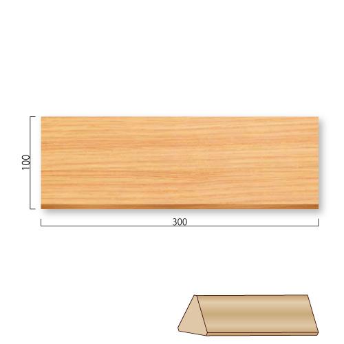 FW100L-MタモカウンターサインM価格幅300×高100mm