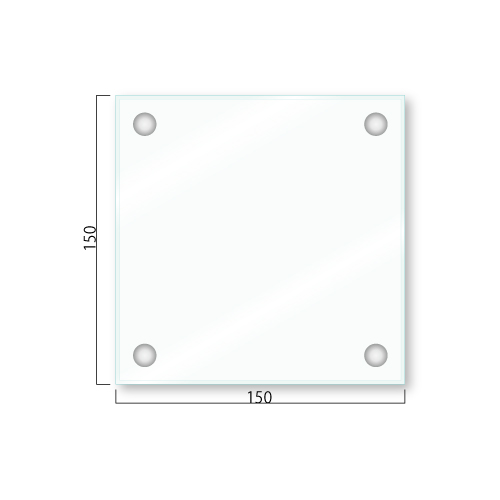 GABR150-Mガラスアクリルプレート接着取付タイプM価格幅150×高150×厚14mm