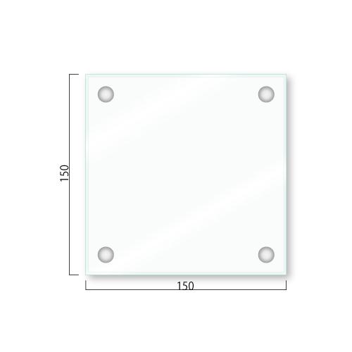 GAR150-Mガラスアクリルプレートビス取付タイプM価格幅150×高150×厚26mm