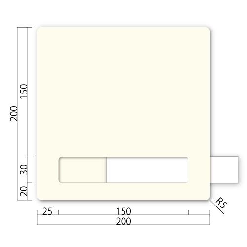 GFN200-Mアクリマットプレートネーム差し替え式M価格幅200×高200×厚9mm