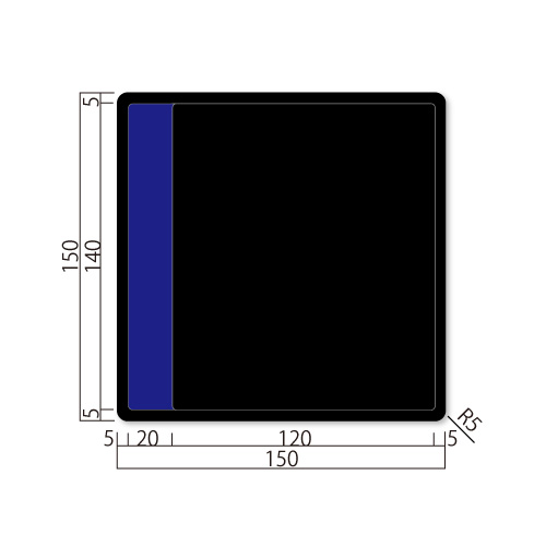 GFS150-Mアクリマットプレート切替表示M価格幅150×高150×厚9mm
