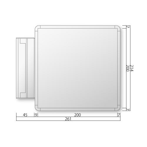 NS-FRAY210-Mフリーサイズプレートスイング型M価格幅261×高214×厚27mm