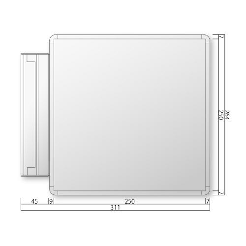 NS-FRAY260-Mフリーサイズプレートスイング型M価格幅311×高264×厚27mm