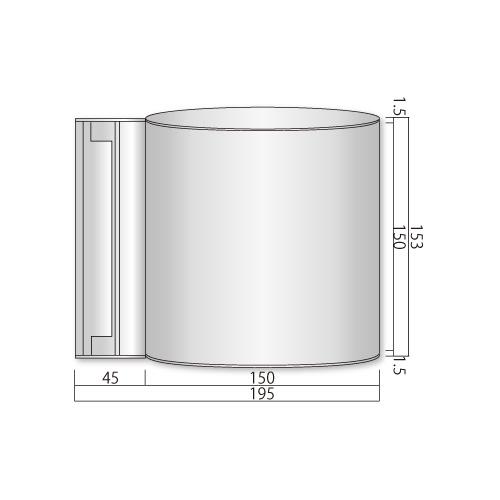 NS-FV150-Mフォーバルプレートスイング型M価格幅195×高153×厚52mm
