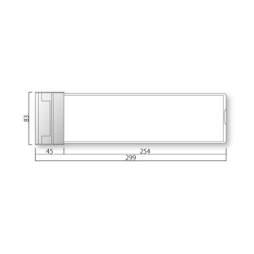 NS-SP-Mスタンダードプレートスイング型M価格幅299×高83×厚27mm