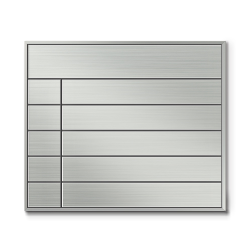 SF450-6段セパレート案内板四方枠ステンレス型無地幅460×高390×厚15mm